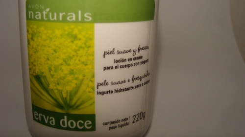 Hidratante avon naturals de erva doce