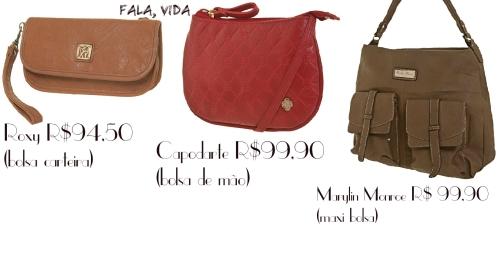 Bolsas por até R$125,00