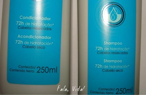 shampoo e condicionador 72h avon